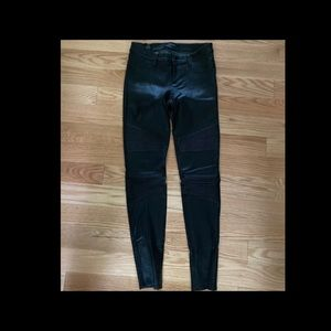 NWOT JBRAND genuine leather leggings, size27